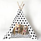 "Pipolli Dog Teepee ($65) Chloe: ""When you want some me time. Glamping at home."""
