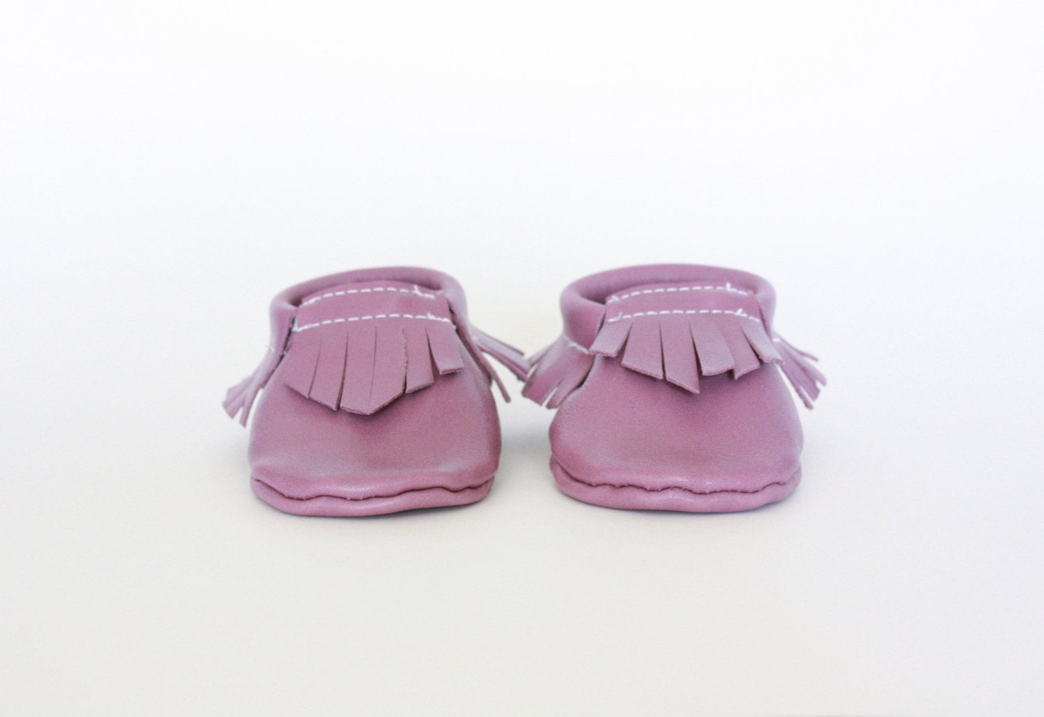 Sophie Kate Lilac Leather Moccasins