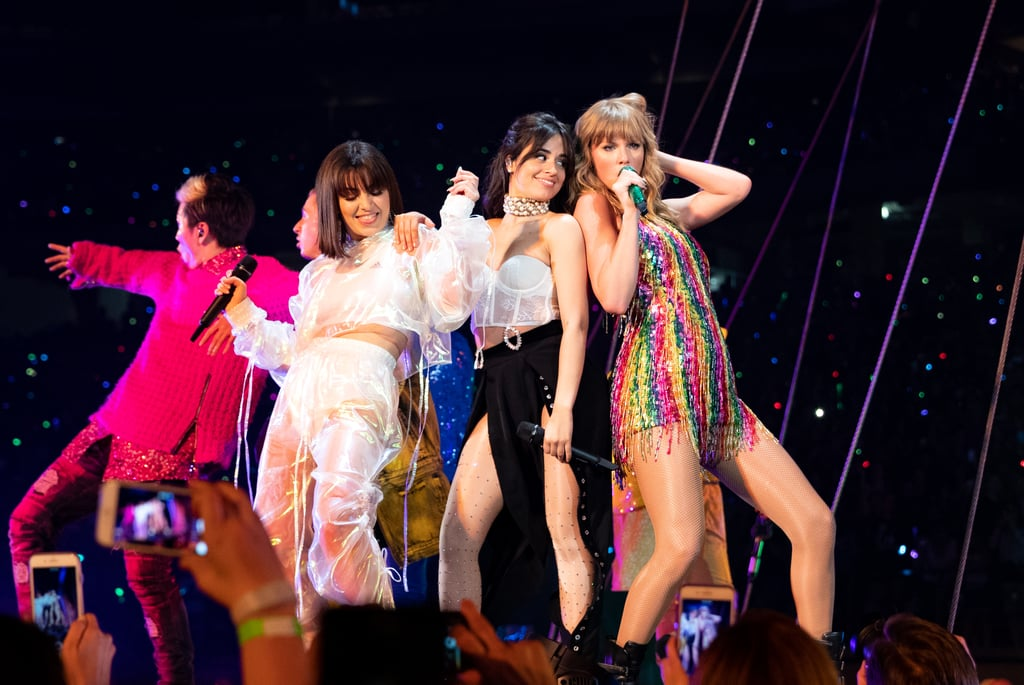 Taylor Wears This Rainbow Beaded Fringe Minidress