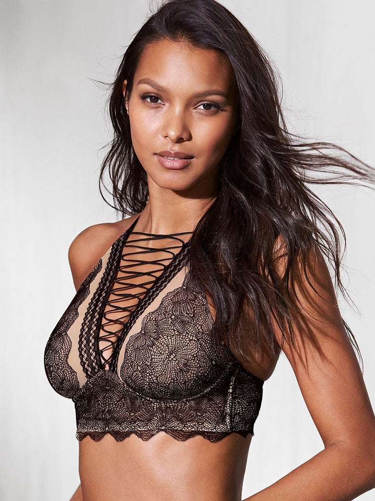 Very Sexy Lace-up High-neck Bra
