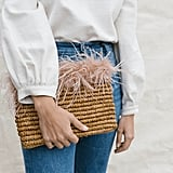 Loeffler Randall Feather Tassel Pouch
