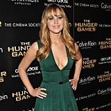 Jennifer Lawrence Poses in a Plunging Dress at an NYC Screening With Liam and Josh