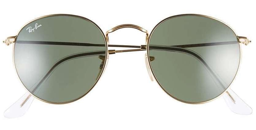 Ray-Ban Women's Icons 50Mm Round Metal Sunglasses