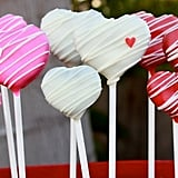 Pink and White Heart Cake Pops