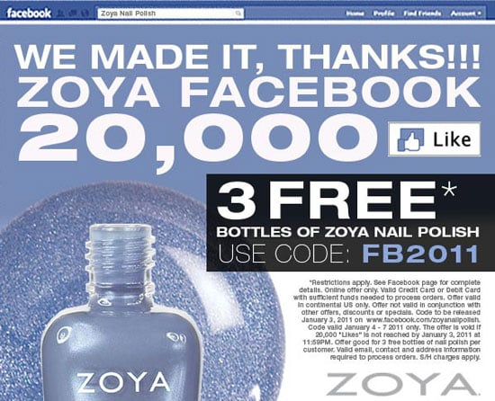 Get Three Bottles of Zoya Nail Polish For Free