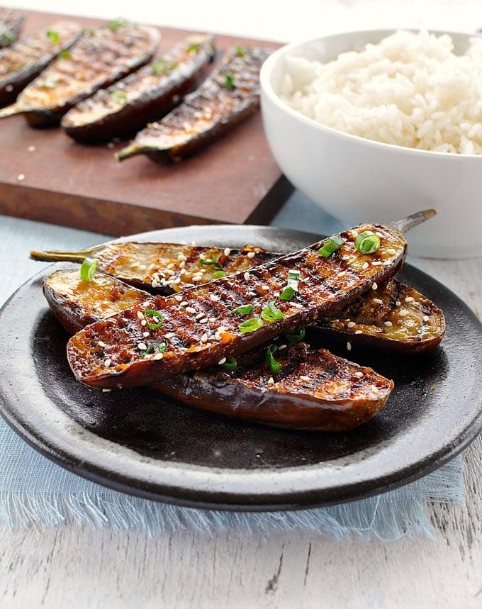 Grilled Miso-Glazed Japanese Eggplant