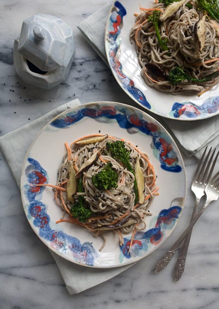 Spicy Tahini Soba Noodle Salad