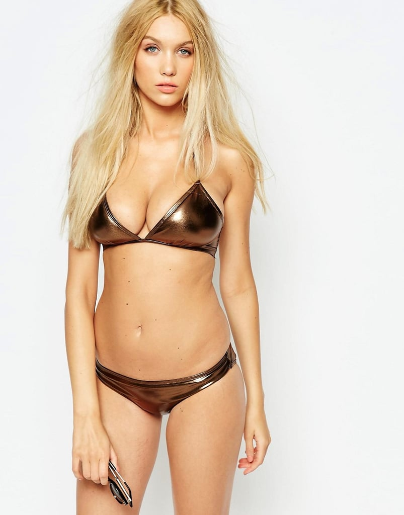 Wolf & Whistle Metallic Bikini Top (£20) and Matching Bottoms (£12)