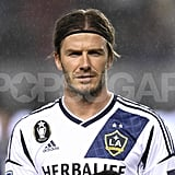 David Beckham wore a headband.