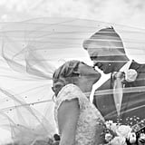 """""""The wind, the long, beaded veil, and the connection between Emily and Jason, all came together at once, for a timeless, dreamy photo for this classic couple."""" — Melissa Kelsey"""