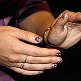 Eugenie's Union Jack manicure lasted the whole Jubilee weekend.
