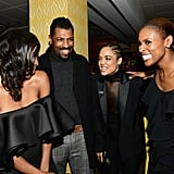 Pictured: Yvonne Orji, Deon Cole, Tessa Thompson, and Issa Rae