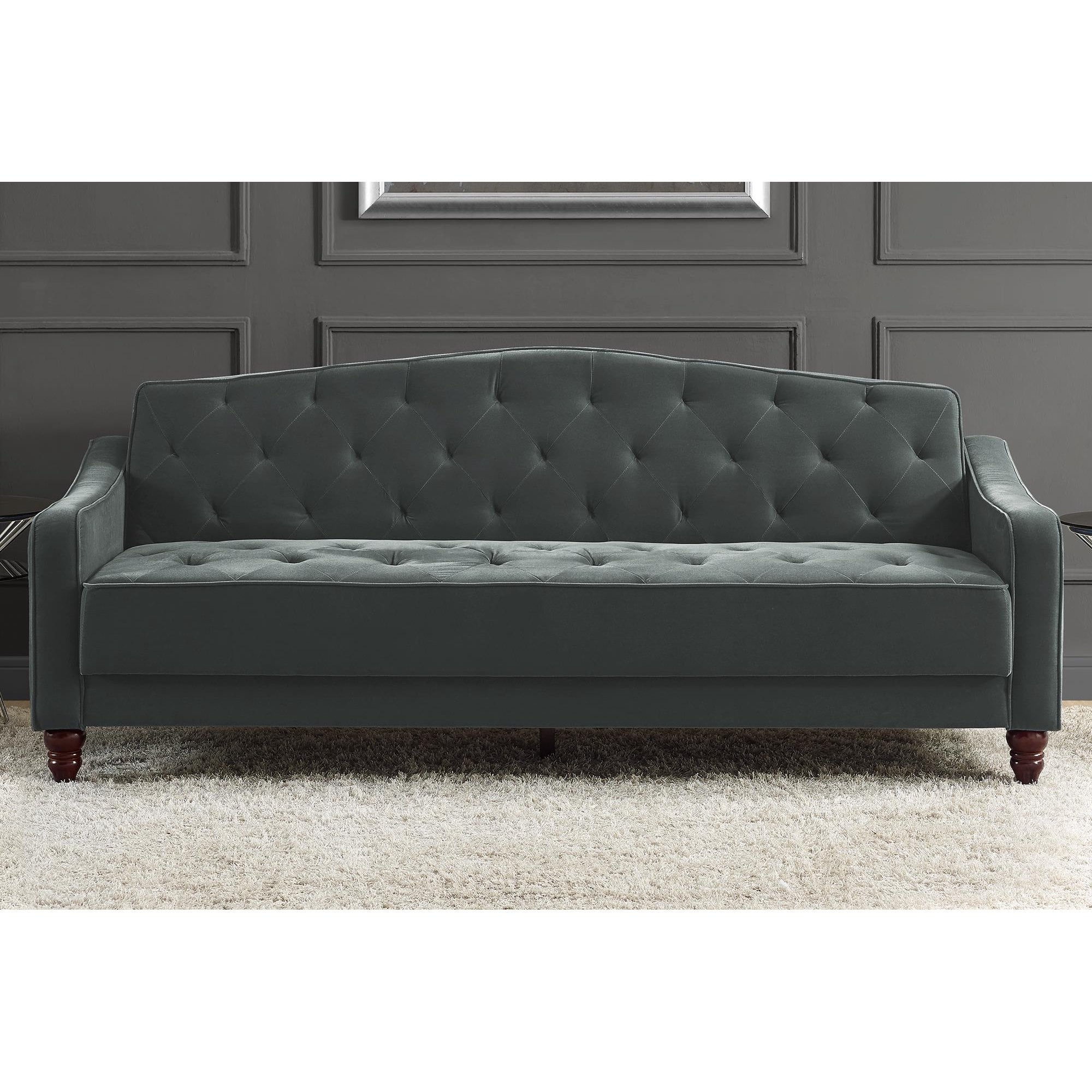 Novogratz Vintage Tufted Sleeper Sofa Bed Ii These 13
