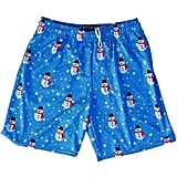 Snowman Winter Lacrosse Shorts