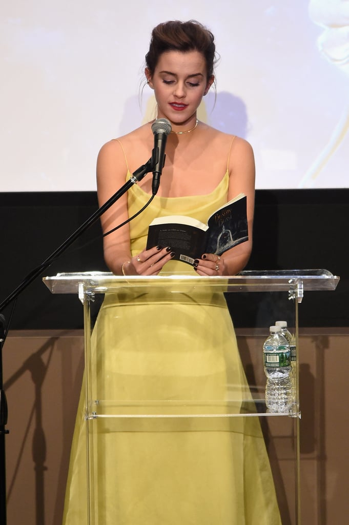 She Even Read a Passage From Beauty and the Beast to the Audience