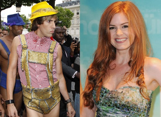 Photos of Sacha Baron Cohen, Isla Fisher at the Bruno World Premiere In Paris, France