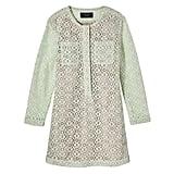 Girls' Mint Green Long Sleeve Lace Dress   ($28)