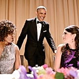Michelle Obama, President Barack Obama, and Cecily Strong