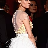 Diane Kruger looked stunning with her hair up for the event.