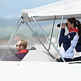 Kate Middleton and Princess Anne took to the water on day 10 of the London Games.