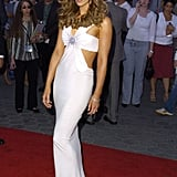 Kate Beckinsale showed some skin at the May 2004 LA premiere of Van Helsing.