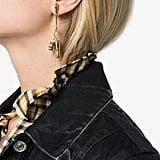 Ambush Gold Metallic Pill Charm Single Earring