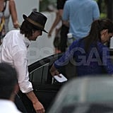 Tom Cruise and Katie Holmes in Miami.