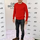 David Beckham at his H&M bodywear launch.