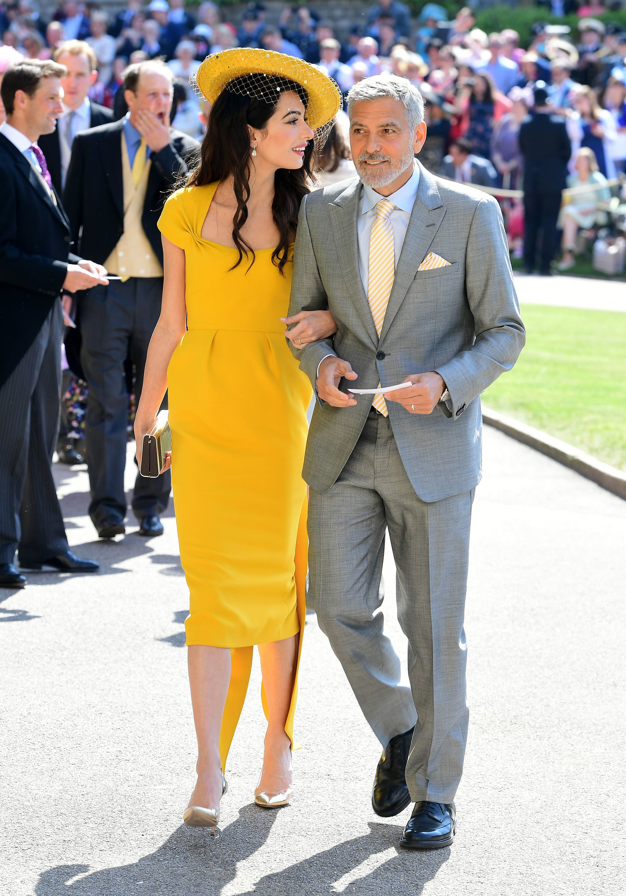 George And Amal Clooney At Royal Wedding 2018 Pictures Popsugar Celebrity