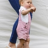 Prince George at Cirencester Park Polo Club in June 2014