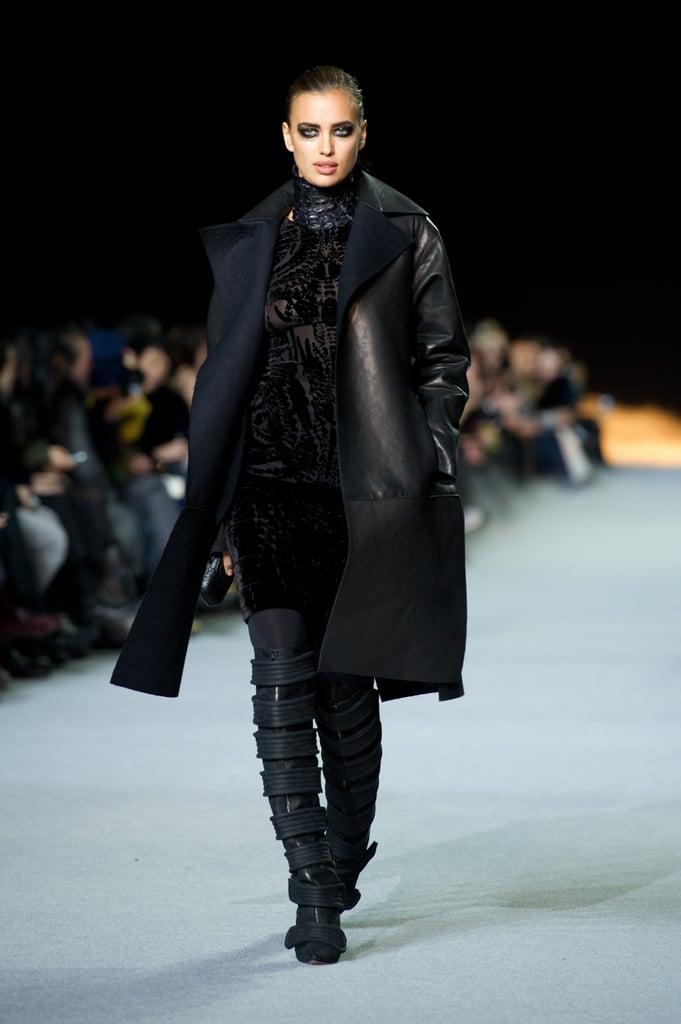 March 2012: Irina Shayk Models in Kanye West's Yeezy Fashion Show