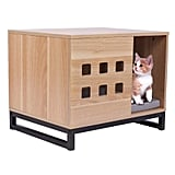 BBvilla Rectangle Wooden Pet House Table