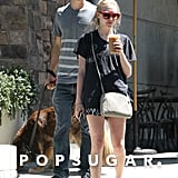 Amanda Seyfried and Justin Long walked around in LA together.