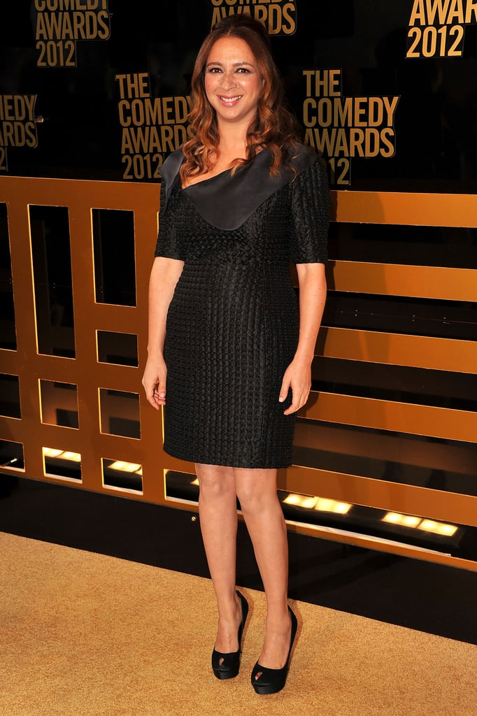 Maya Rudolph looked stunning in a black dress at the Comedy Awards in NYC.