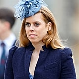Princess Beatrice attended the Easter service at St George's Chapel with a festive headpiece in April 2015.