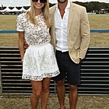 Reality TV couple Anna Heinrich and Tim Robards made a stylish appearance.