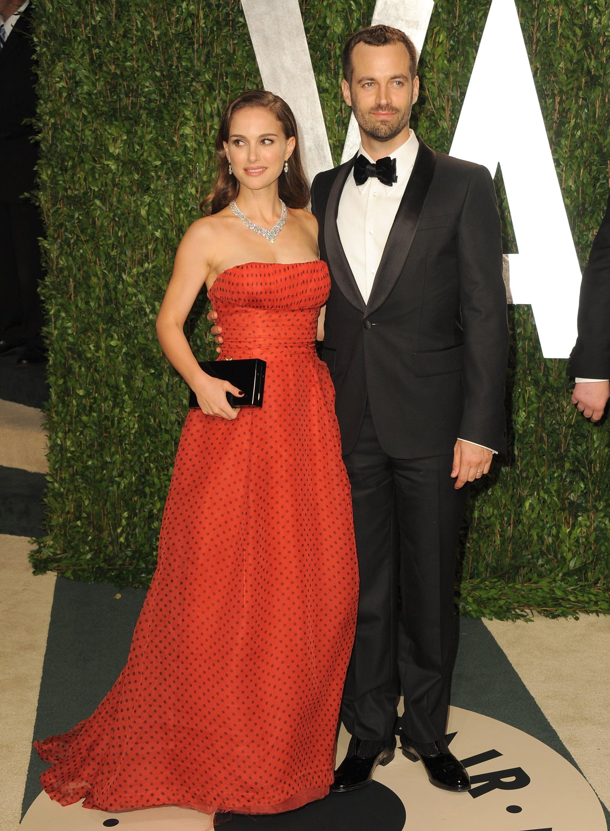 Natalie Portman and Benjamin Millepied strike a pose.