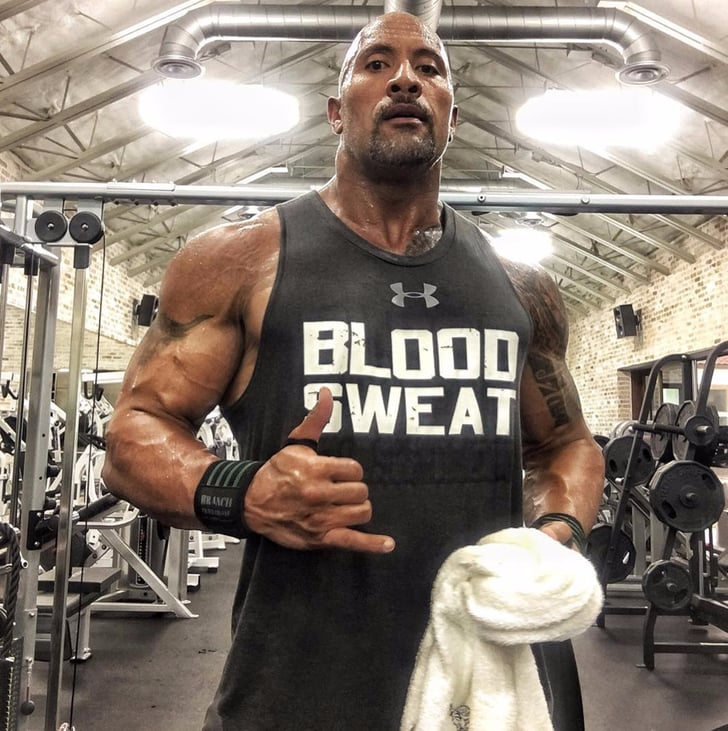 Dwayne The Rock Johnson Working Out Popsugar Fitness