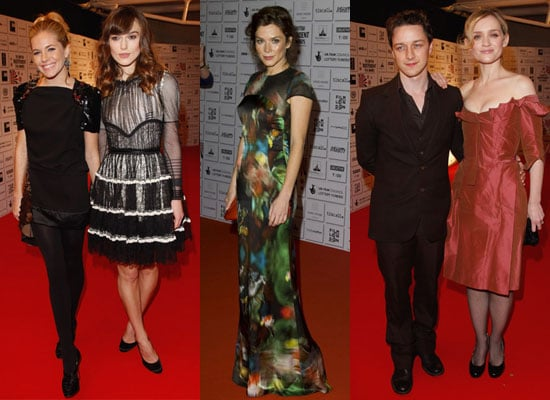 Photos of Keira Knightley, Sienna Miller, Anna Friel, James McAvoy and Anne-Marie Duff at 2008 British Independent Film Awards
