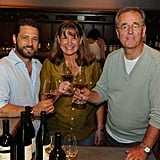 Jason Priestley with Beringer winemaker Laurie Hook in Napa.