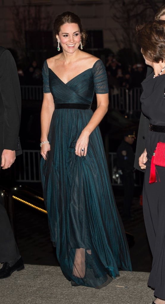 Wearing Jenny Packham at the St. Andrews 600th anniversary dinner in December 2014.