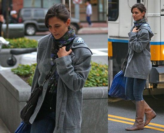 Photos of Katie Holmes Strolling Through Boston