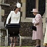 "Kate Middleton, at 5'9"", stands above Queen Elizabeth II."