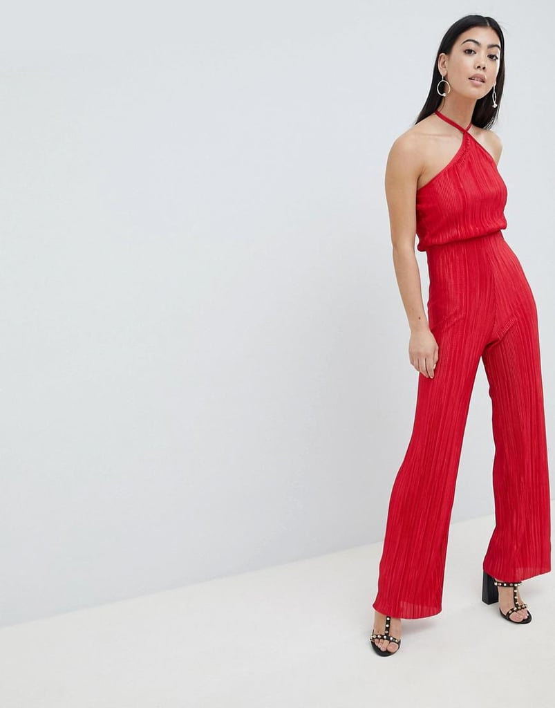 b140d3329501 John Zack Petite High Neck Wide Leg Jumpsuit