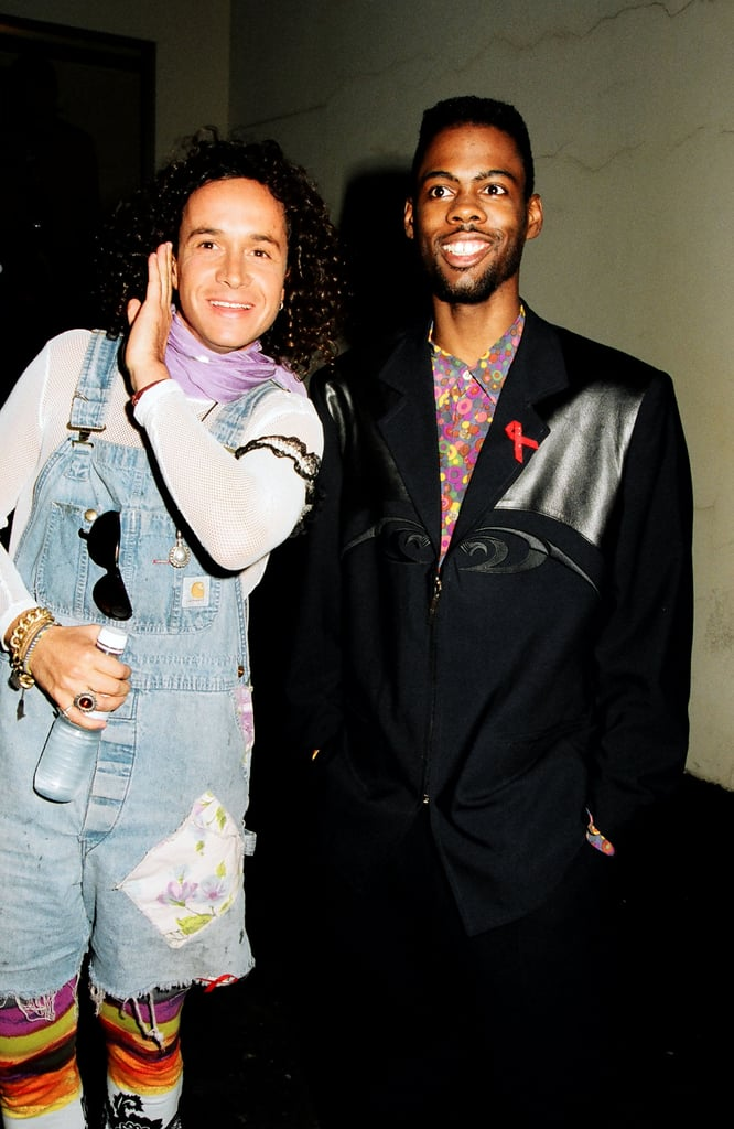 Chris Rock hung out with Pauly Shore, who wore overalls.