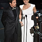 Gwyneth Paltrow and Robert Downey Jr. presented at the Oscars.