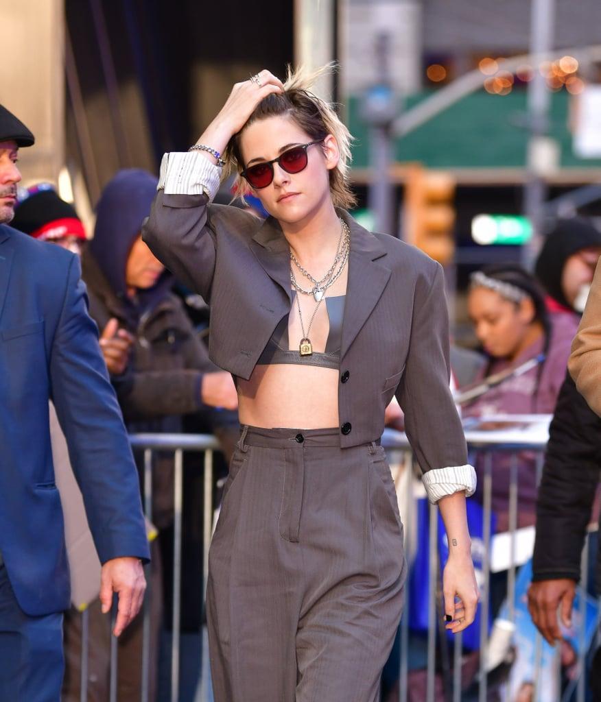 Kristen Stewart Just Made Leather Bras a Thing