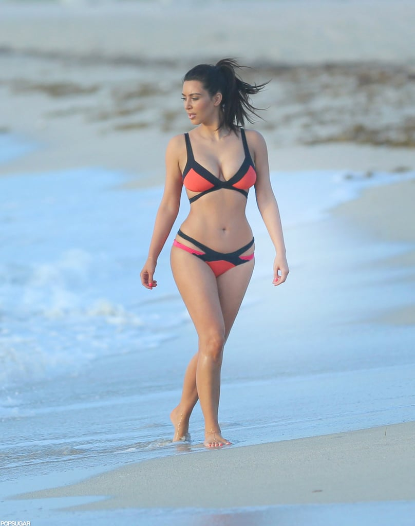 She wore a colorful Agent Provocateur bikini on Miami Beach in July 2012.