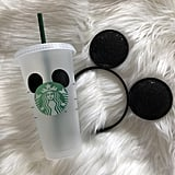 Mickey Mouse Ears Personalized Iced Coffee Cup