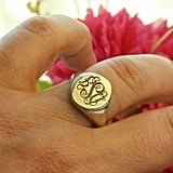 Etsy Signet Personalized Engraved Ring